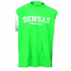 Modieus T-Shirt Groen&Wit