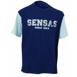 Modieus T-Shirt Navy & Grijs