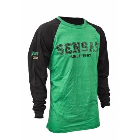 Sensas T-Shirt Lange Mouw Groen & Zwart